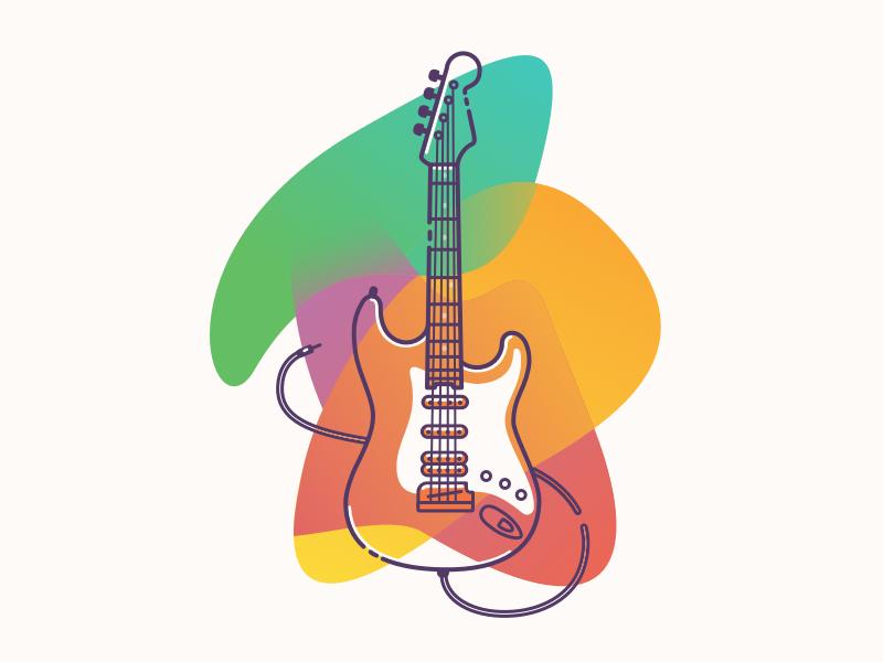 Lil Guitar Guitar Illustration Ilustration Design Guitar