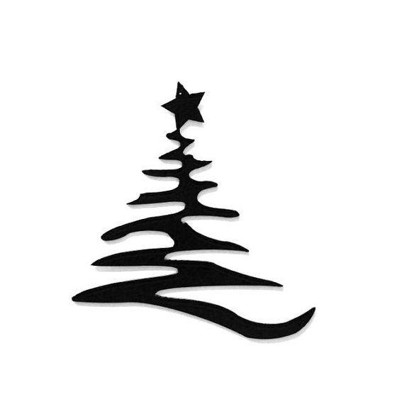 Items Similar To Modern Christmas Tree With Star Metal Art On Etsy Metal Tree Wall Art Metal Art Diy Metal Tree