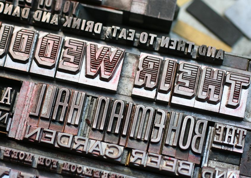Letterpress Antique Type In Chase