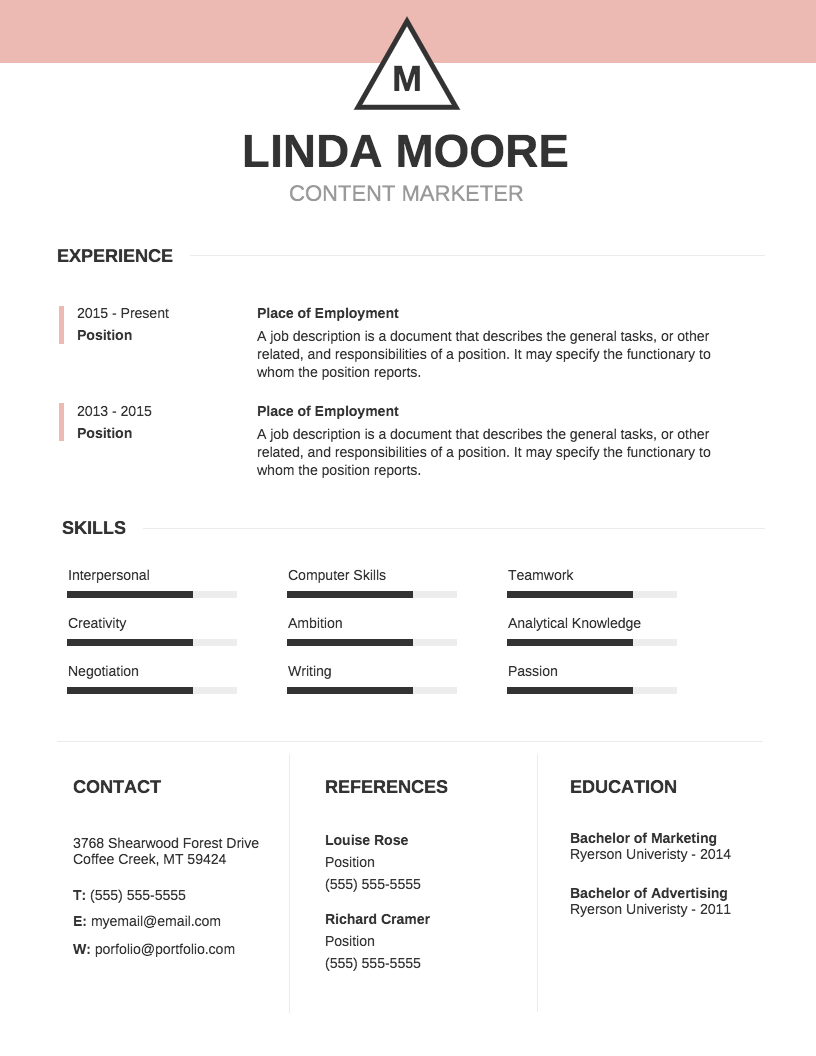 Basic Professional Resume Want To Make An Impression On Employers ...