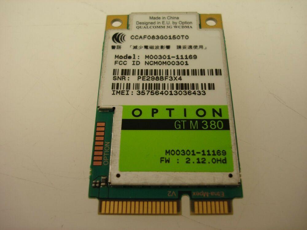 Option Gtm380 Mini Pci E 3g Wwan Wifi Wireless Card Hsupa Hsdpa 7 2m M00301 Acerqualcomm Wifi Card Wifi Wireless Wireless