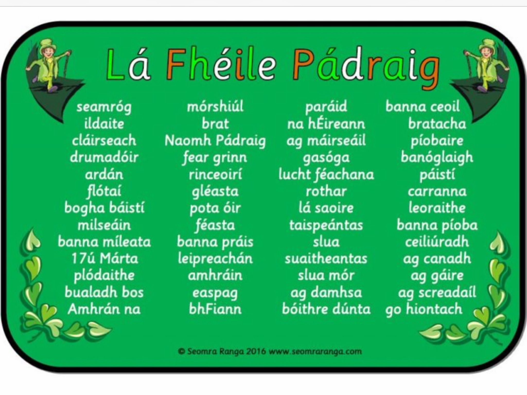 Irish Gaelic Image By Brid Hanrahan On Irish