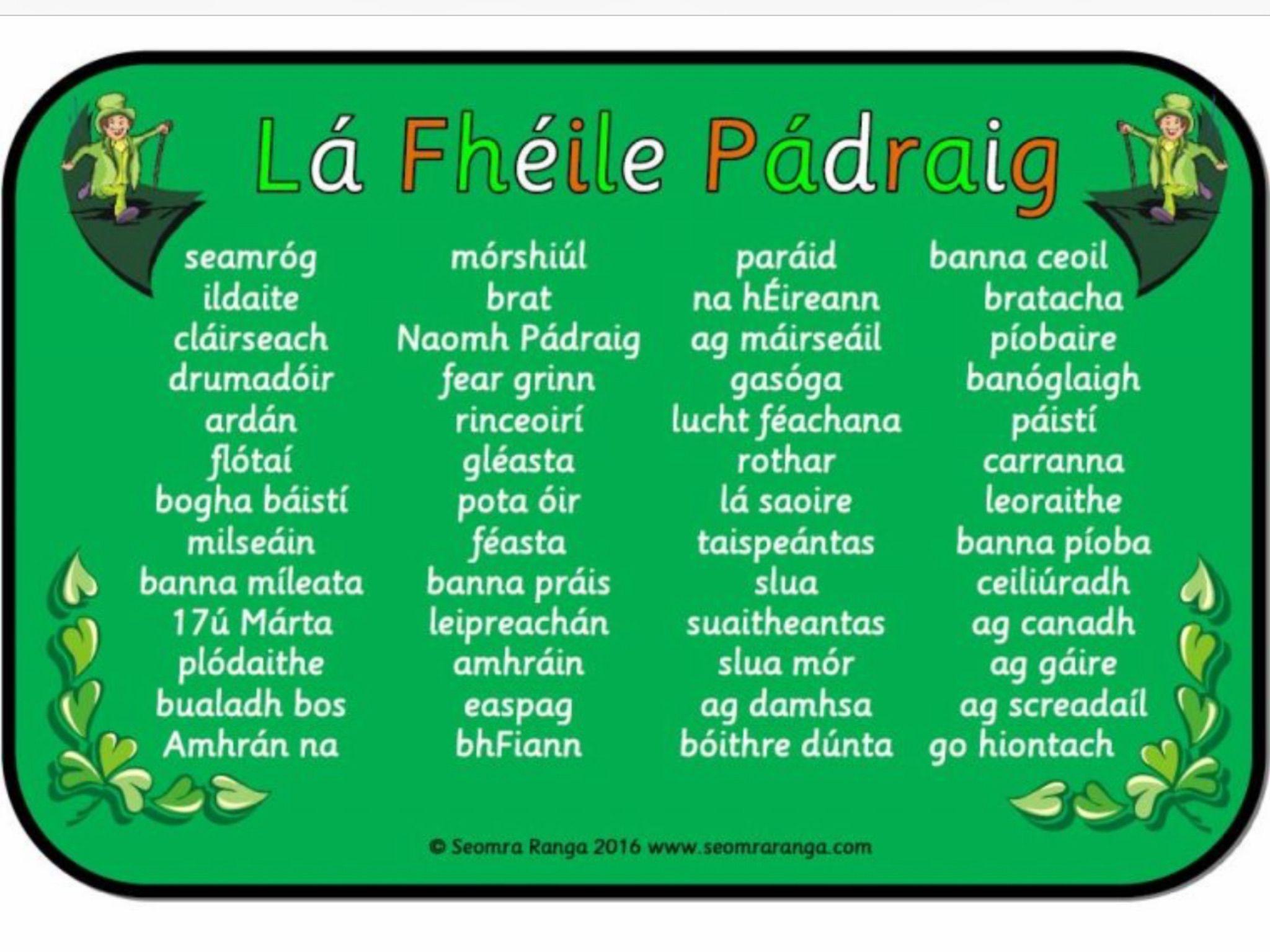 Irish Gaelic Image By Brid Hanrahan On Irish