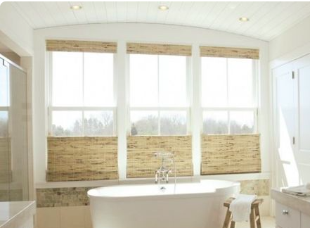 Woven Blinds Can Be Custom Ordered To Be Pulled From