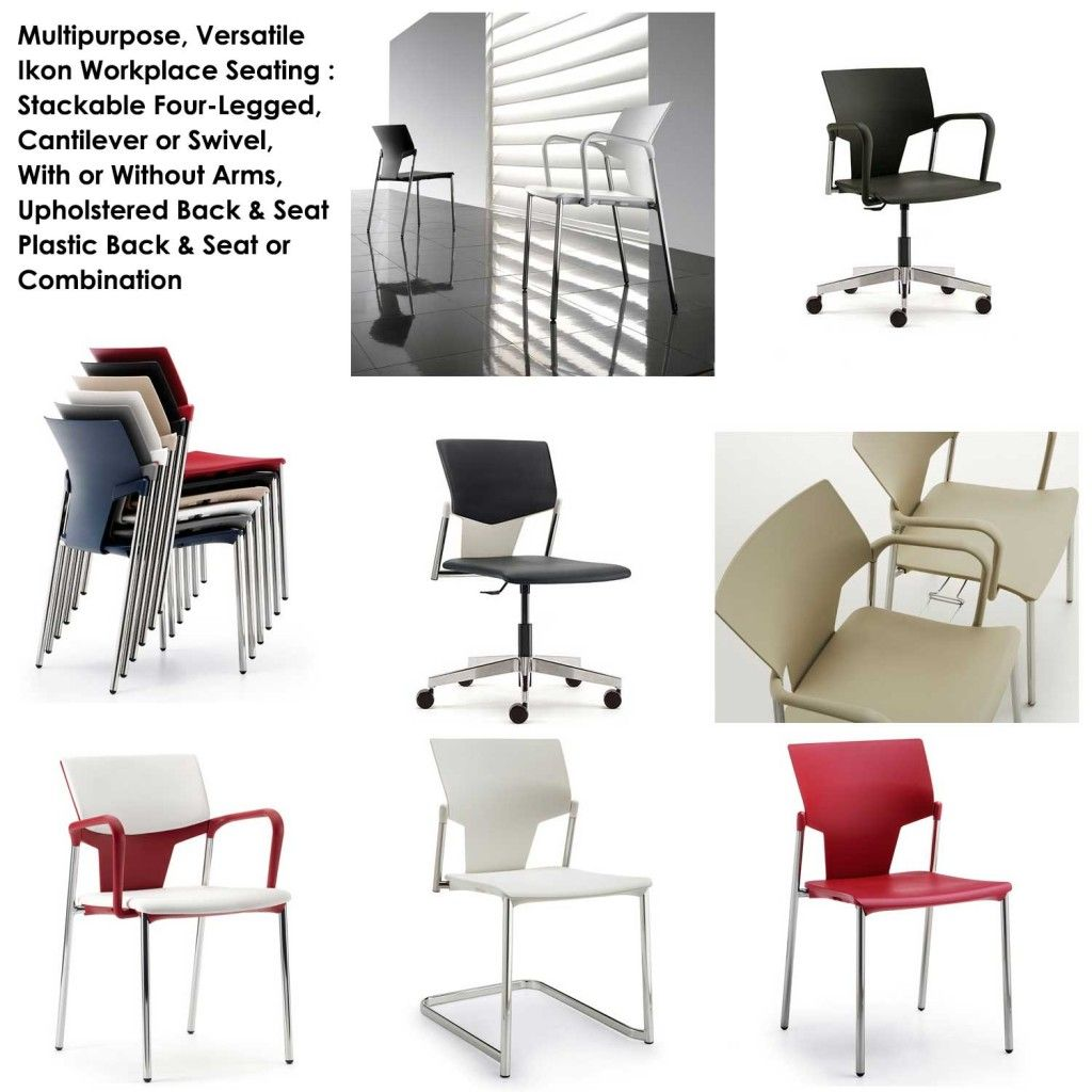 Stylish Plastic Office Seating Office seating, Dining
