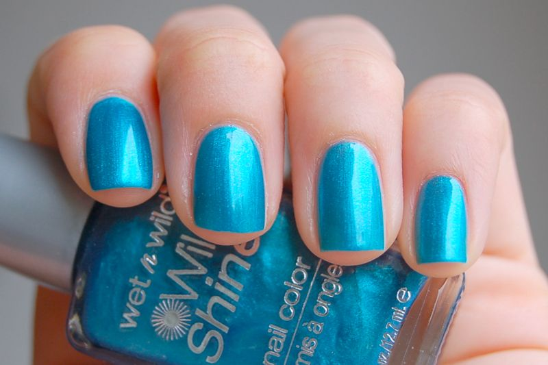 wet wild - bijou blue #nailpolish