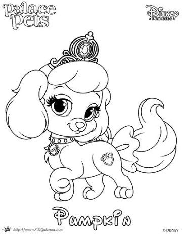 Free Coloring Page featuring Pumpkin from Disney's