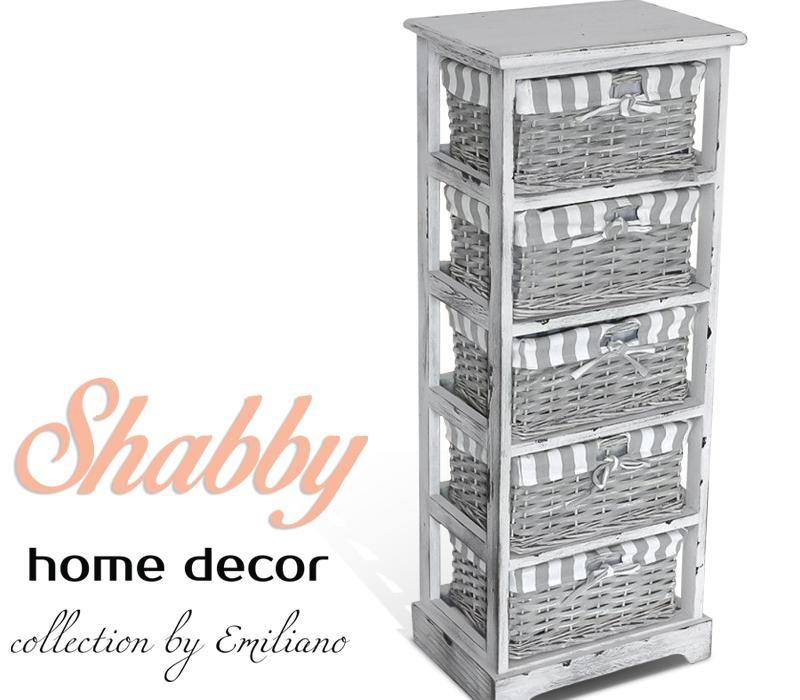 Regal Lazienkowy Komoda Wiklinowa Z 5 Koszami Wi 4823282178 Oficjalne Archiwum Allegro Shabby Home Decor Collection Home Decor