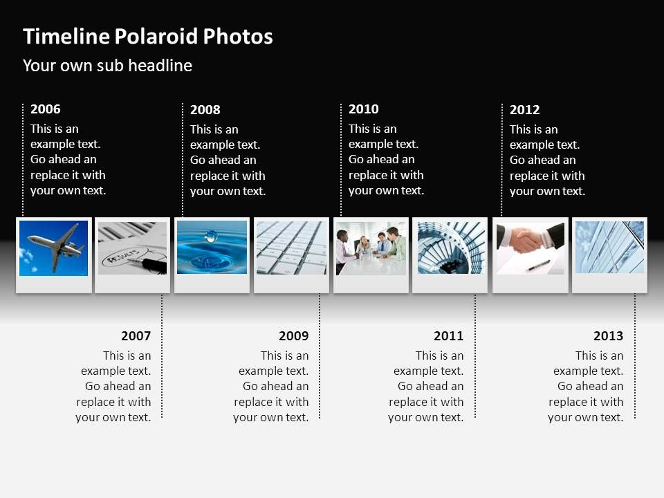 Powerpoint  Timeline Polaroid Photos Animated  Cool Stuff