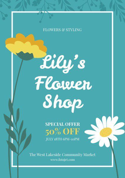 flyer flower shop promotional flyer template flyer flyer design