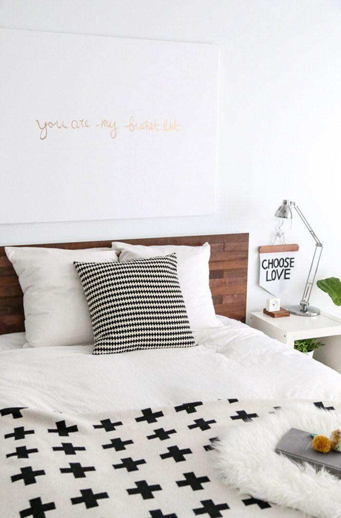 Ein neues Kopfteil individualisiert dein MALM Bett. Wunderhübsch!