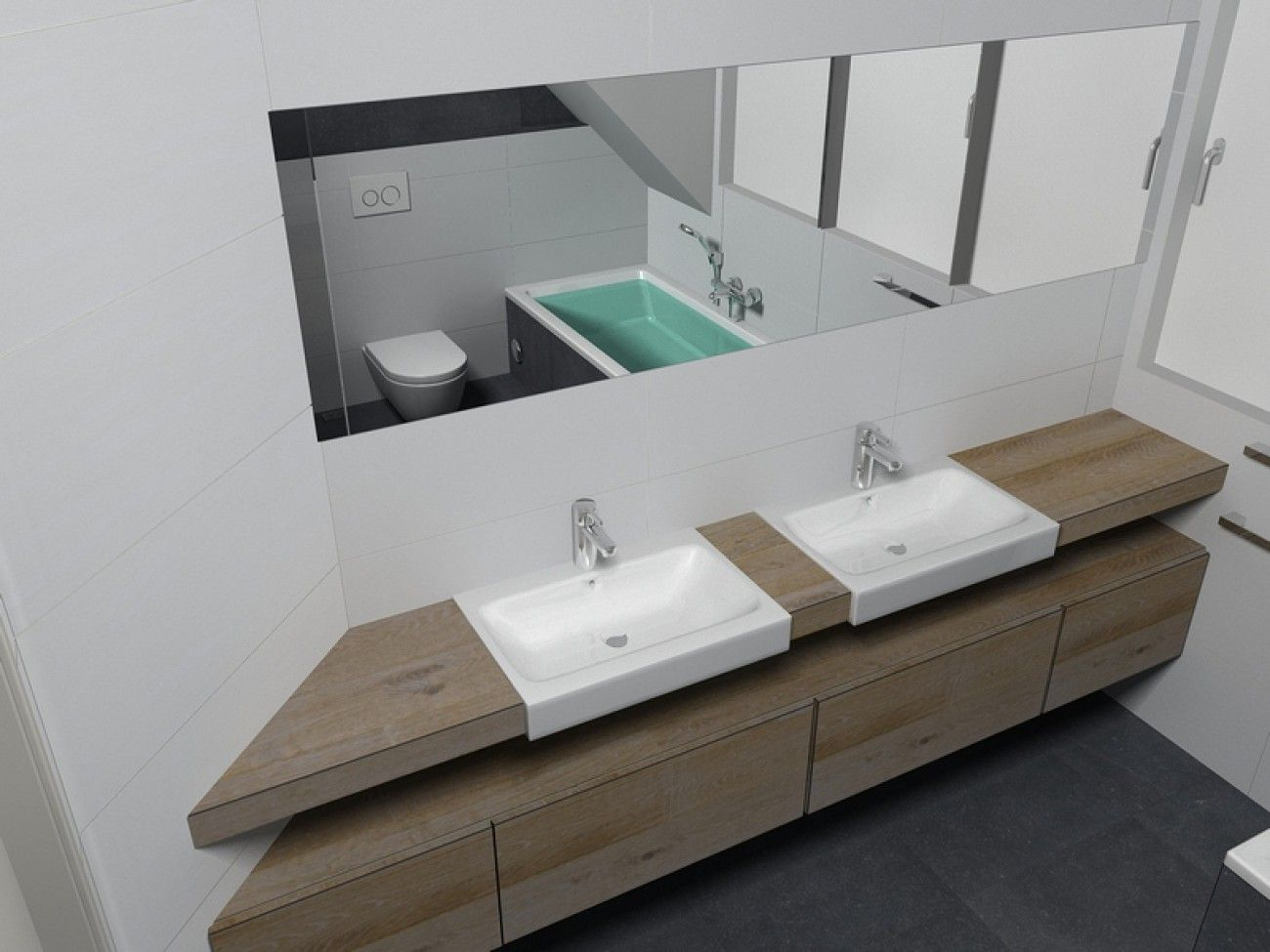 de eerste kamer de wastafels van het merk sphinx uit de serie 345