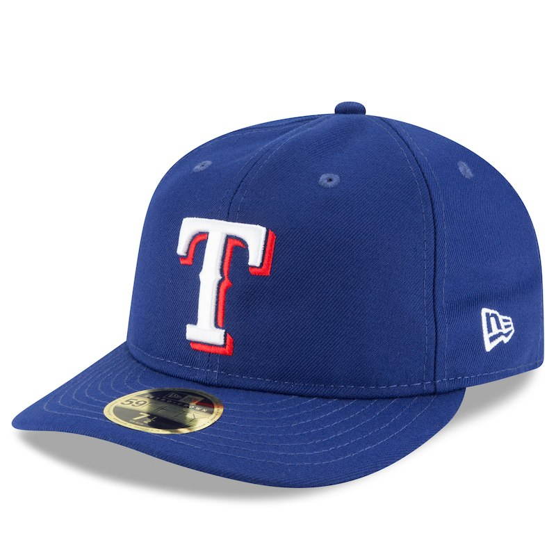 Texas Rangers New Era Fan Retro Low Profile 59fifty Fitted Hat Royal Fitted Hats Texas Rangers New Era