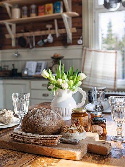 Cozy cottage kitchen.