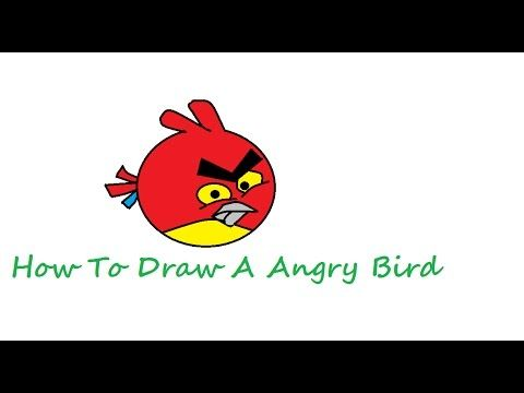 How to Drawing angry bird Use Microsoft Paint For Kids | How To Draw ...