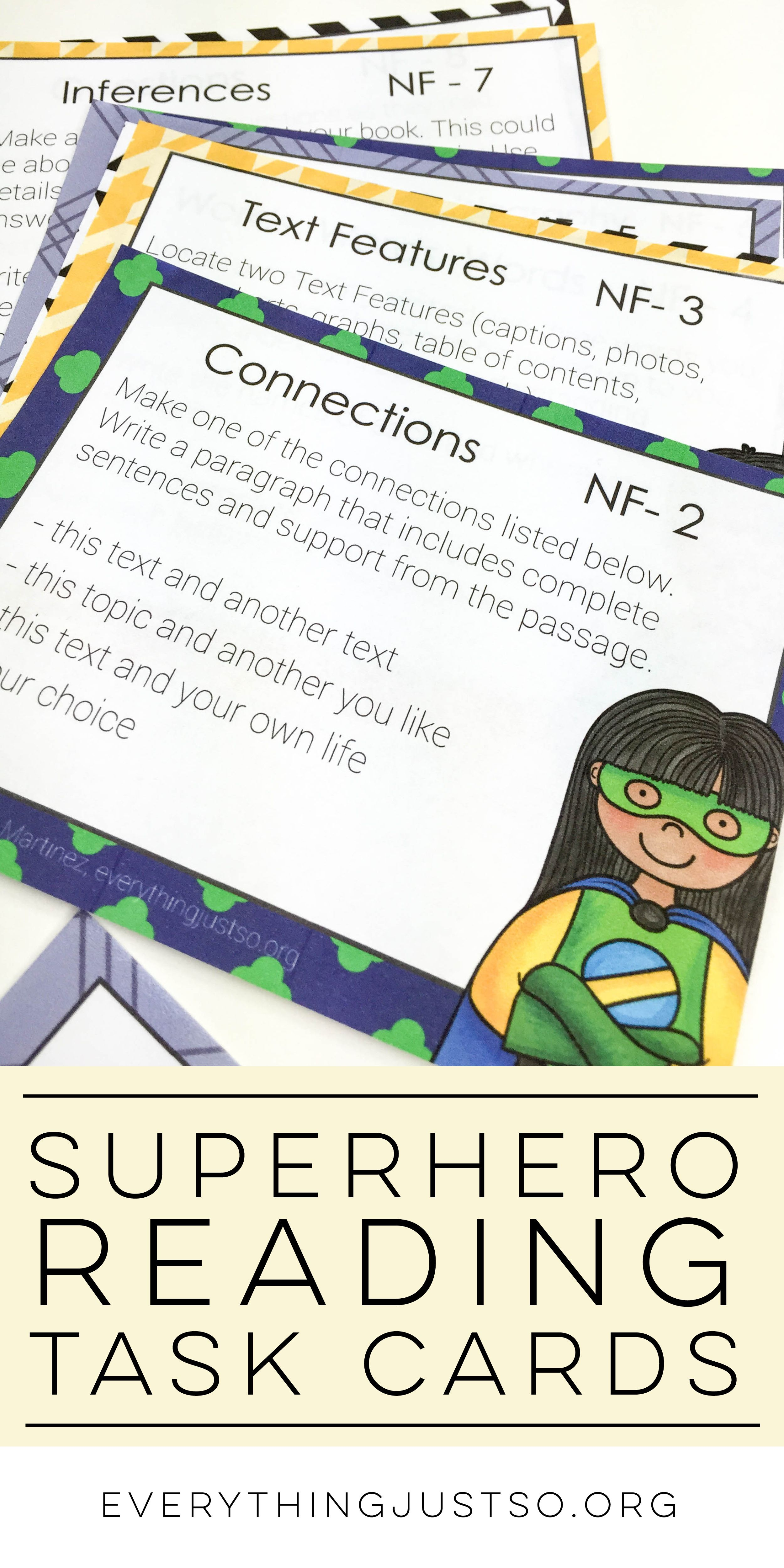 Independent Reading Response Task Cards