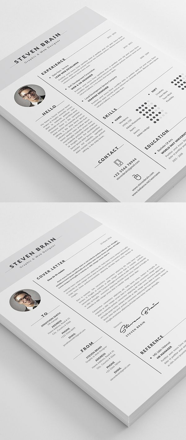 resume template    cv template with modern design
