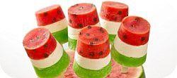 Strawberry & Kiwi pops.
