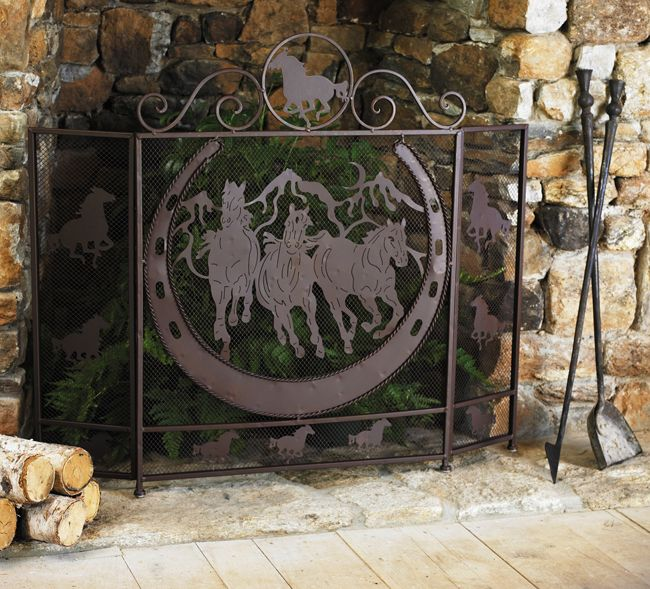 Cowboybetterdecoratingbible Fireplace Screens Fireplace Rustic