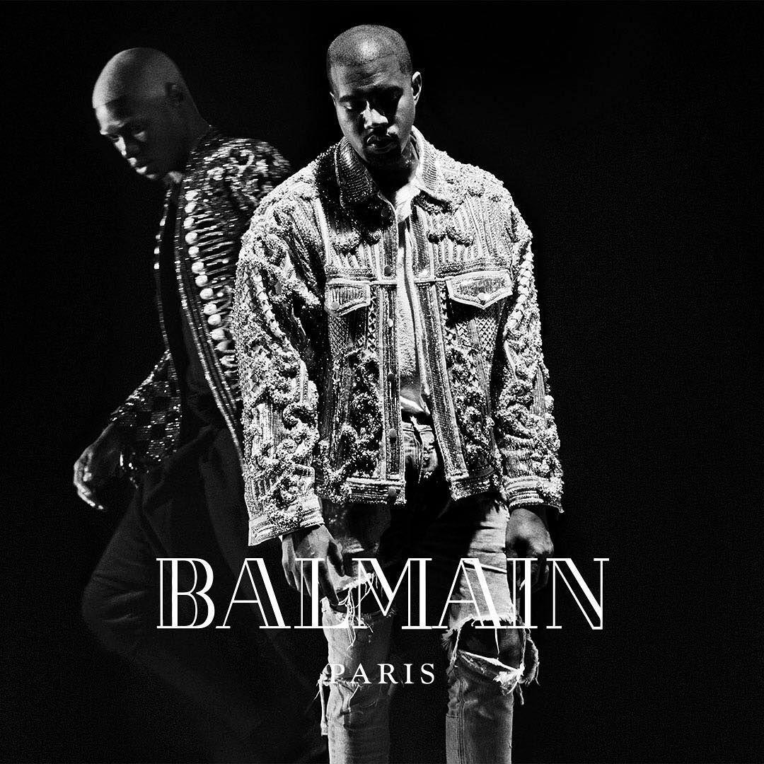 Kanye For Balmain 2016 Kanye West Moda Para Homens Joan Smalls