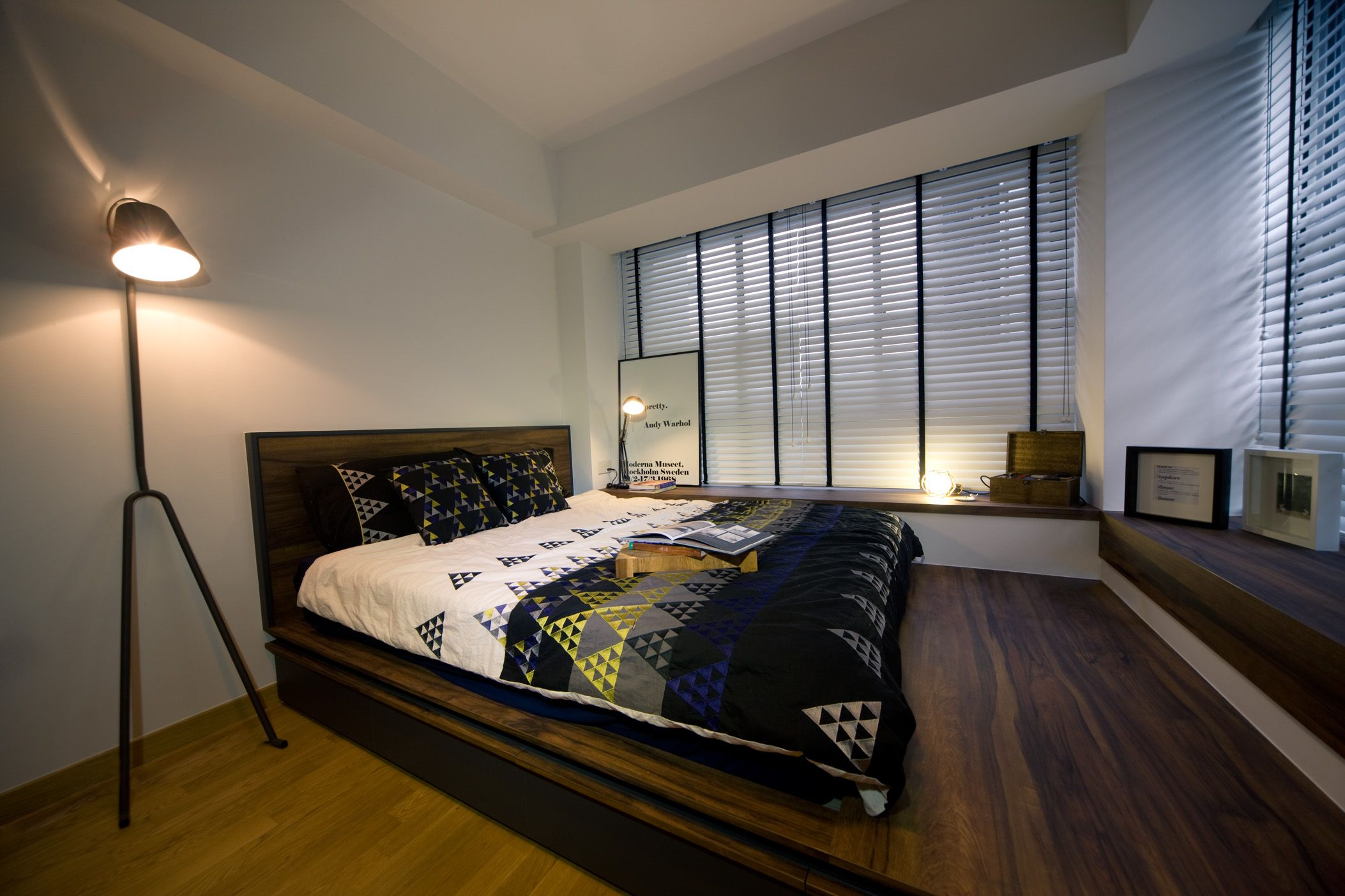 4 room bto master bedroom  The Peak  Project File  Industrial modern home  Pinterest