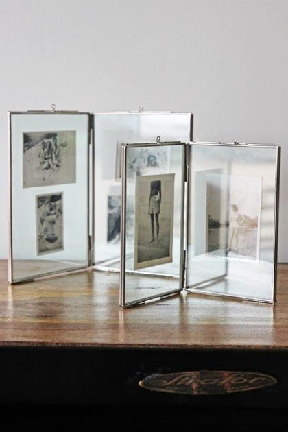glass double photo frame small or large - Double Glass Frame