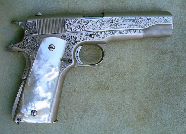 .45 COLT AUTOMATIC - PEARL HANDLED