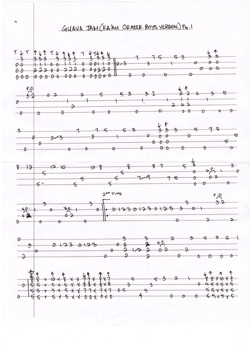 Guava Jam Tab Ukulele Sheet Music Pinterest Uke String Diagram Related Keywords Suggestions