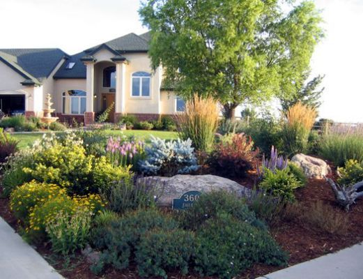 front yard xeriscape small yard xeriscaping ideas. Black Bedroom Furniture Sets. Home Design Ideas