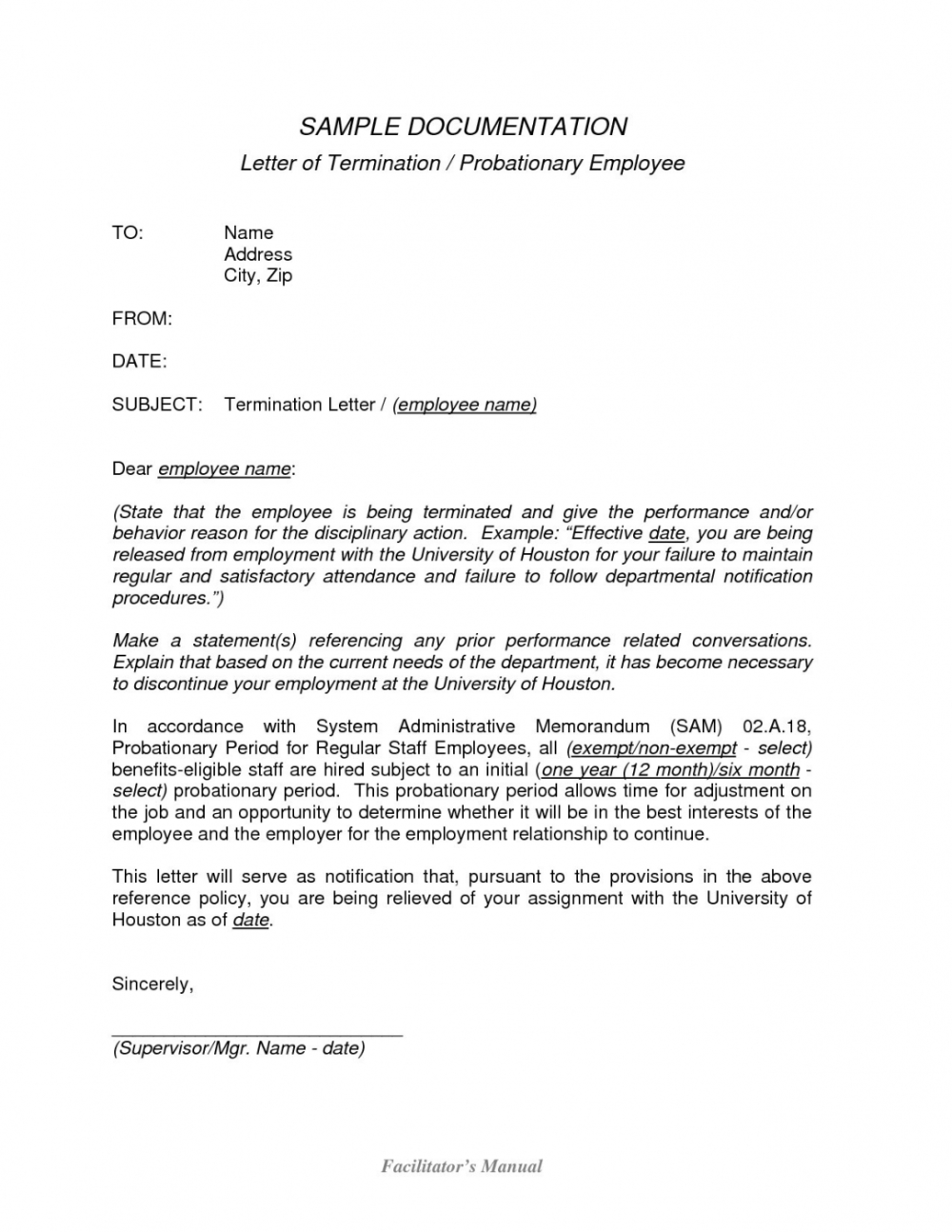 Editable Retrenchment Letter Template Za Valid