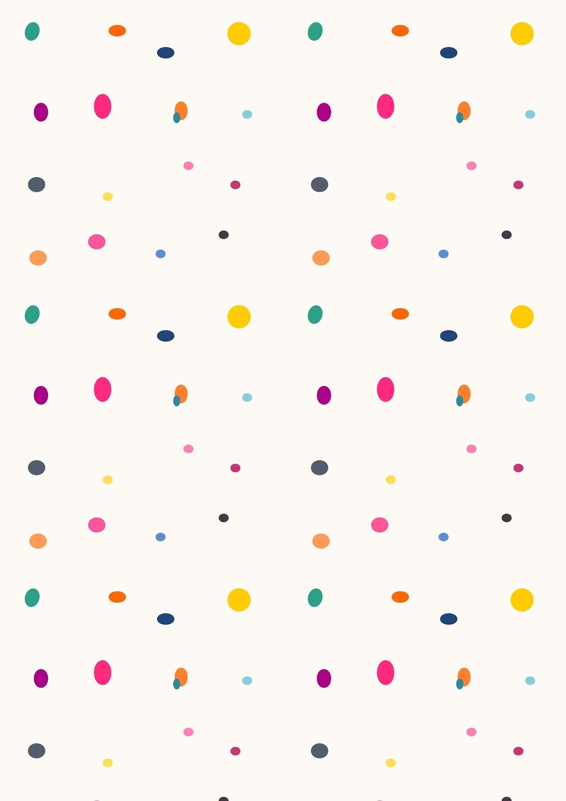 Free Printable Color Party Pattern Paper Dots Printable