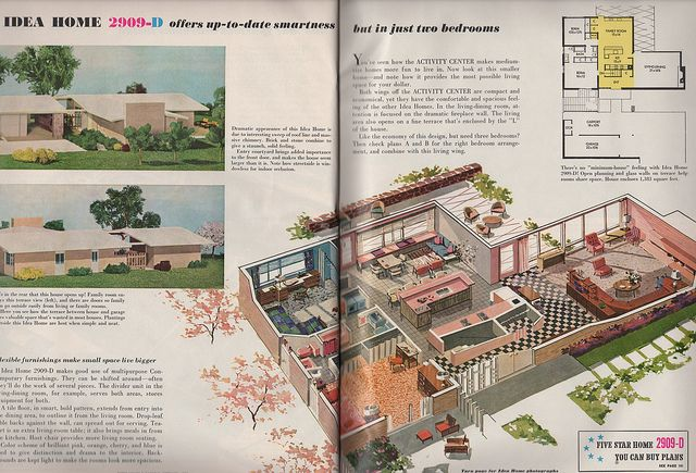 Home Plan 2909 D Vintage House Plans Mid Century Modern House Plans Better Homes And Gardens