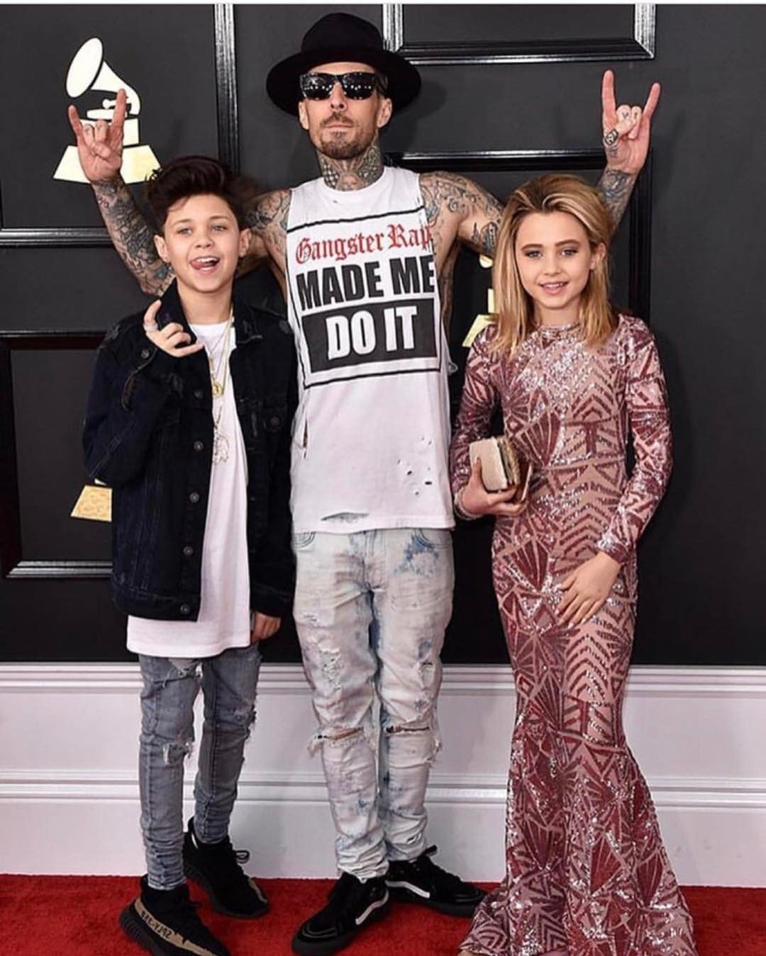 Travis Barker S 11 Year Old Daughter Alabama Glams It Up At The