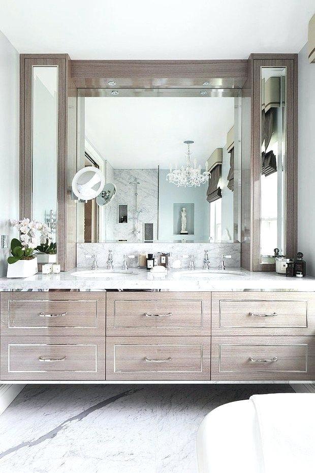 Glam Bathroom Decor Bathrooms With A Fabulous Floating Vanity Rustic Glam Bathroom Decor Bathrooms Remodel Beautiful Bathrooms Bathroom Decor