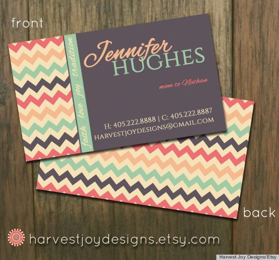 DIY printable business card templates from Etsy Learn to choose
