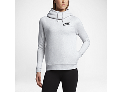Nike Sportswear Rally Funnel Neck Women's Sweatshirt Black/White