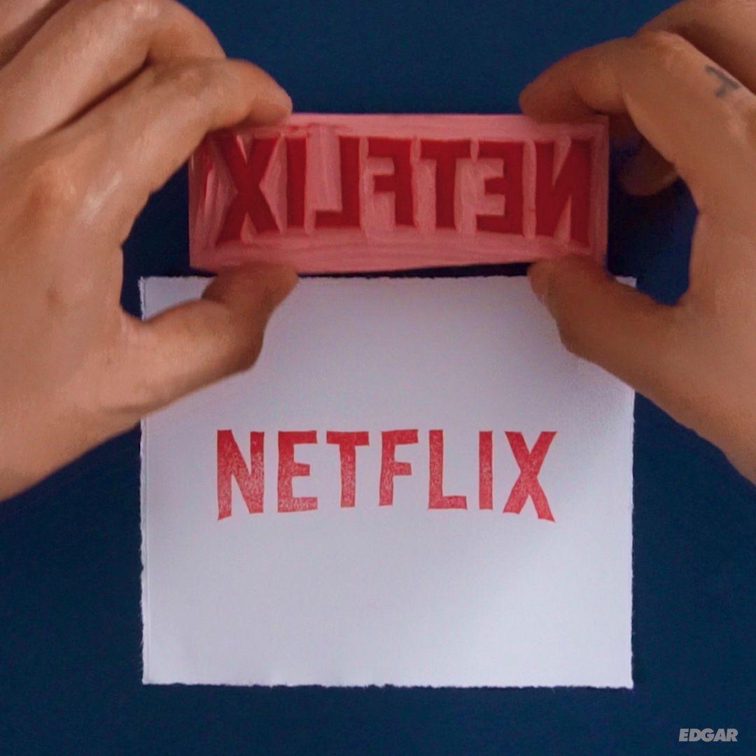 Netflix Rubber Stamp