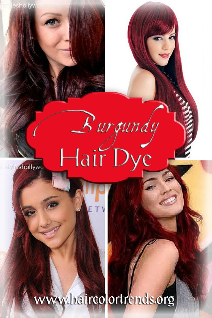 Burgundy hair dye is one hair color which a lot of women, especially those whose natural hair color is of a tamer tone such as light blonde or medium brown, seem to go for. #hair #haircolor #burgundyhair #haircolortrends