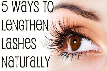 5 Ways to Lengthen Eyelashes Naturally | You Put It On | I Love ...