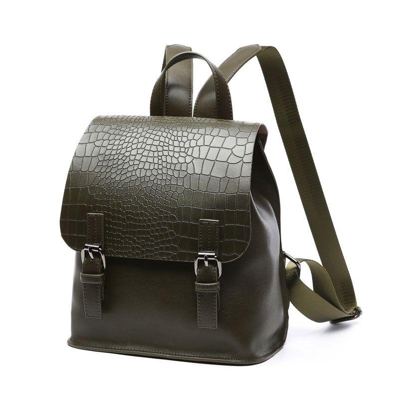 fb909adc211 Bolsos online moda por mujer bonita mochilas de cuero de cocodrilo para las  niñas  SD91049  - €54.07