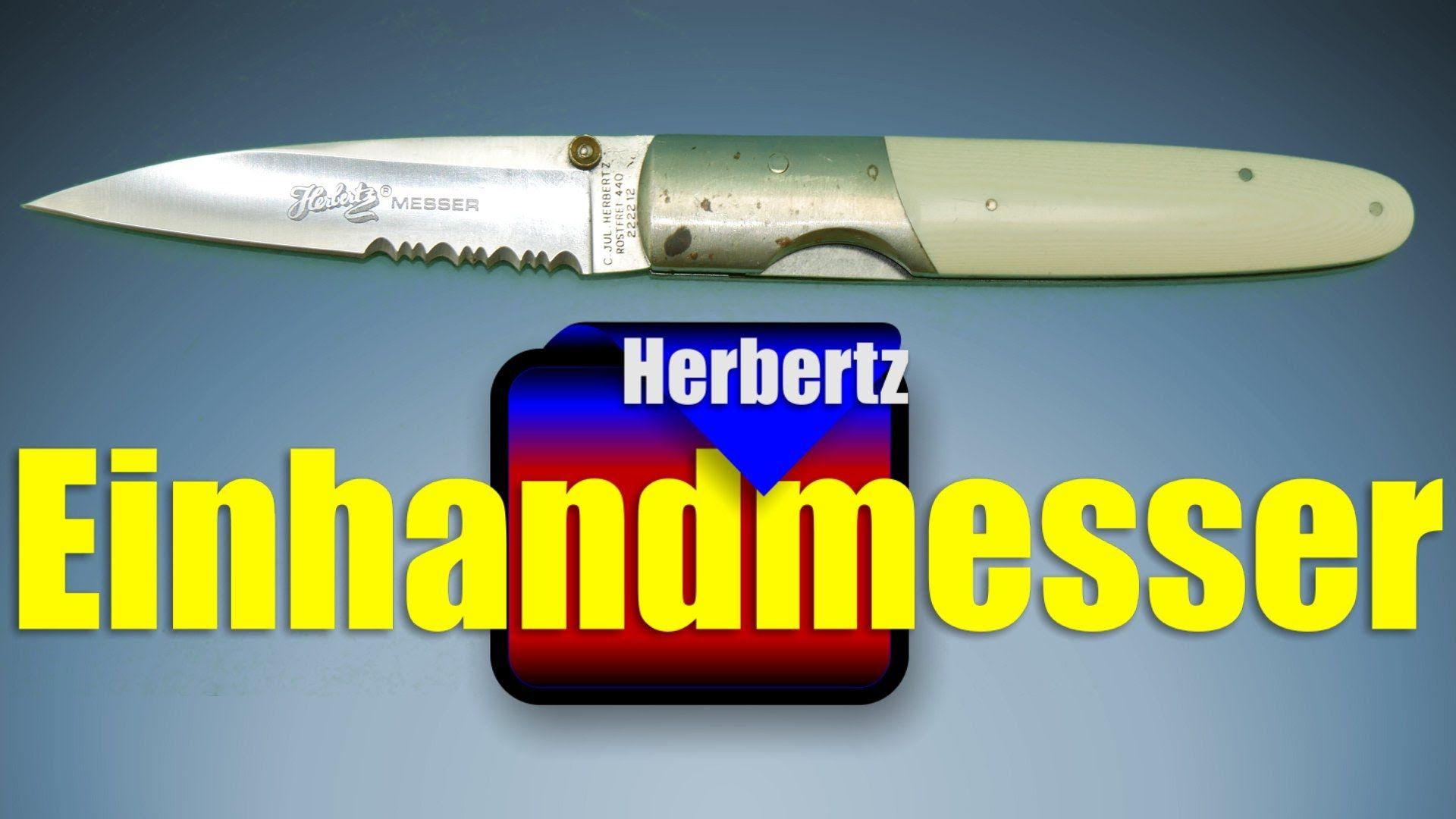 Einhandmesser Taschenmesser von Herbertz Gesamtlänge: ca. 20,5 cm Klingenlänge: ca. 8 cm Gewicht: ca. 125 g mit Wellenschliff