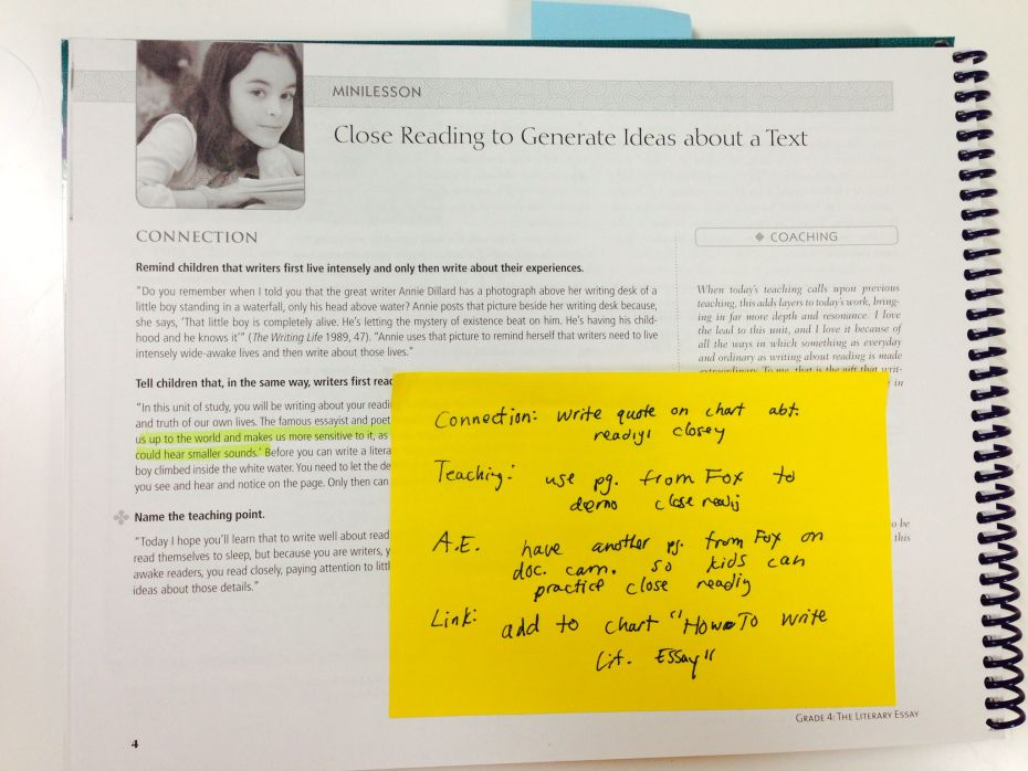 How To Read A Unit Of Study Reading Workshop Lucy