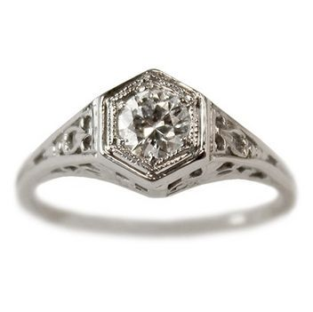A Bernadette diamond vintage engagement ring circa 1935