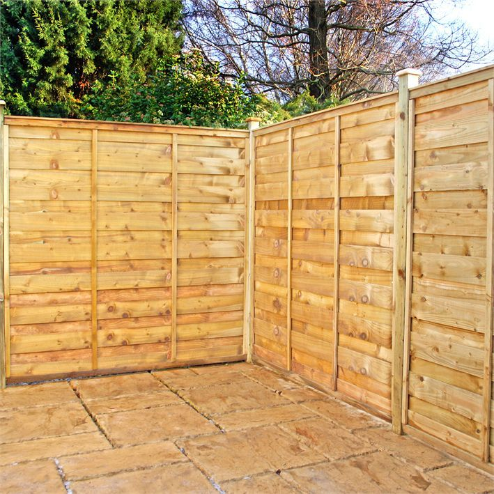 Pressure Treated Horizontal Hit And Miss Fencing Fence Panels Garden Cheap