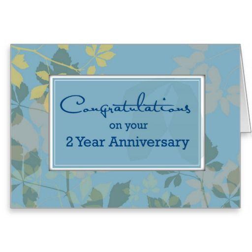 employee anniversary  2 year  congratulations card