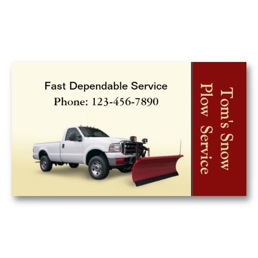 Great card for snow plowing services snow plowing business cards shop snow plow truck service business card created by lastingimpressions colourmoves Images