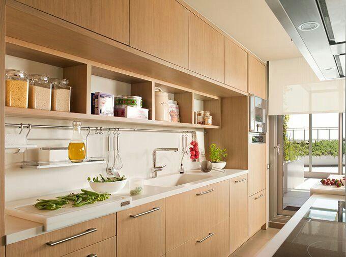 Muebles cocina con estantes abiertos | Cocinas y baños ...
