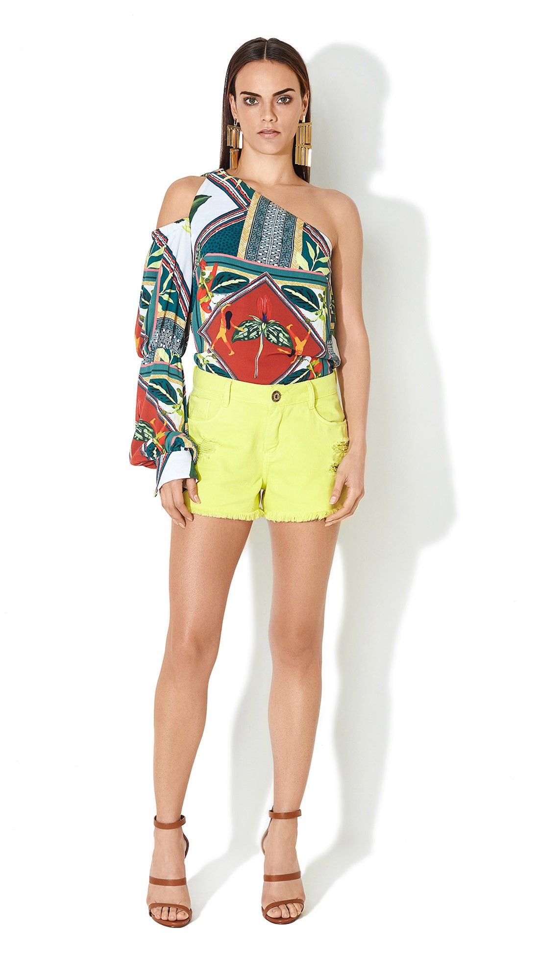 Blusa Ombro So Estampada Ideias Fashion Moda Blusas