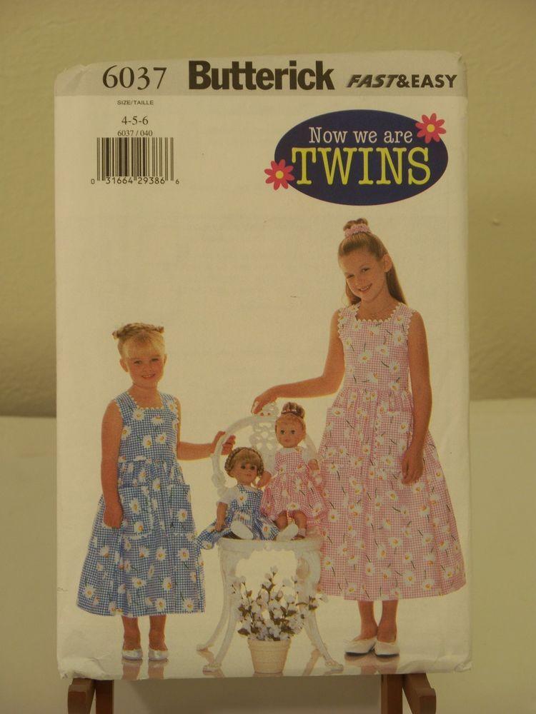 6037 Butterick Sewing Pattern We areTwins Girls Dress & 18\