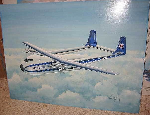 Original Painting Listed Len Musk Universal Airplane Plane Aviation Illustration | eBay